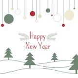 Ano novo feliz do fundo Foto de Stock