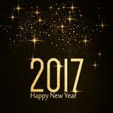 Ano novo feliz do número 2017 da textura do brilho do ouro Imagens de Stock Royalty Free