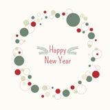 Ano novo feliz do quadro Imagem de Stock