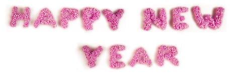 Ano novo feliz do título Fotos de Stock