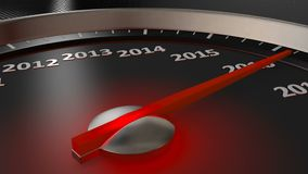Ano novo feliz do velocímetro ilustração do vetor