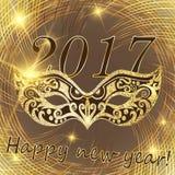 Ano novo feliz 2017 do vetor e Natal Foto de Stock