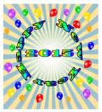 Ano novo feliz do vetor, eps10 Imagens de Stock Royalty Free
