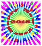 Ano novo feliz do vetor - fundo colorido Fotografia de Stock