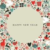 Ano novo feliz dos ícones 2013 do Natal Fotos de Stock