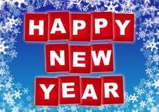 Ano novo feliz dos cartões Imagem de Stock Royalty Free