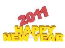 Ano novo feliz e 2011 da inscrição ilustração royalty free