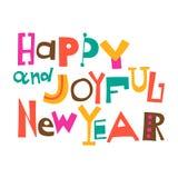 Ano novo feliz e alegre Imagens de Stock Royalty Free