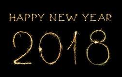 Ano novo feliz e dígitos 2018 imagens de stock