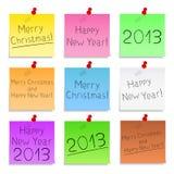 Ano novo feliz e Feliz Natal ilustração do vetor