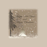 ano novo feliz e Feliz Natal Imagem de Stock Royalty Free