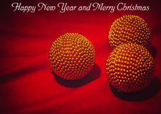 Ano novo feliz e Feliz Natal foto de stock royalty free