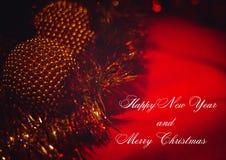 Ano novo feliz e Feliz Natal fotos de stock royalty free