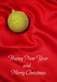 Ano novo feliz e Feliz Natal Fotografia de Stock