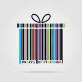 Ano novo feliz e Feliz Natal do código de barras Imagem de Stock Royalty Free