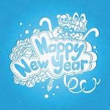 Ano novo feliz e Feliz Natal do cartão Ano novo feliz do cartão Imagens de Stock