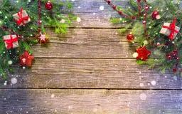 Ano novo feliz e Feliz Natal Fundo Fotos de Stock Royalty Free