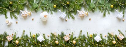 Ano novo feliz e Feliz Natal Fundo fotografia de stock