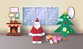 Ano novo feliz e Feliz Natal, ilustração do vetor ilustração stock