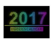 Ano novo feliz 2017 - efeito claro do pixel Fotos de Stock