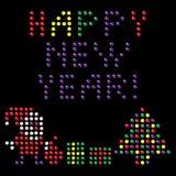 Ano novo feliz! elementos do projeto Foto de Stock