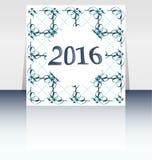 Ano novo feliz 2016 escrito no projeto abstrato do inseto ou do folheto Imagem de Stock