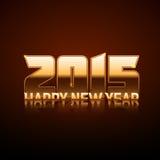 Ano novo feliz 2015 - estilo do ouro Imagens de Stock