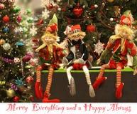 Ano novo feliz, Everytings e feliz alegres sempre imagem de stock royalty free