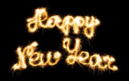 Ano novo feliz feito dos sparkles Foto de Stock