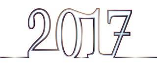 Ano novo feliz feliz 2017 Imagens de Stock