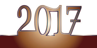Ano novo feliz feliz 2017 Fotos de Stock