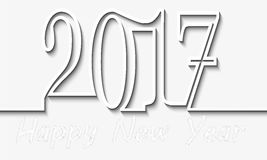 Ano novo feliz feliz 2017 Imagem de Stock