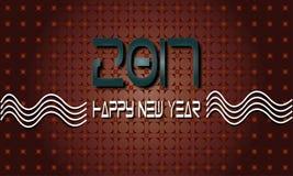 Ano novo feliz feliz 2017 Fotografia de Stock Royalty Free