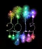 Ano novo feliz - 2015 fizeram um chuveirinho Imagem de Stock Royalty Free