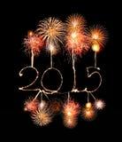 Ano novo feliz - 2015 fizeram um chuveirinho Imagens de Stock