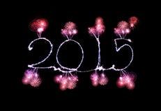 Ano novo feliz - 2015 fizeram um chuveirinho Fotos de Stock