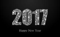 Ano novo feliz 2017 Fundo do vetor Imagem de Stock