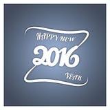 Ano novo feliz Ilustração de papel do vetor no fundo colorido à moda ilustração do vetor