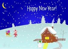 Ano novo feliz Ilustração do vetor ilustração do vetor