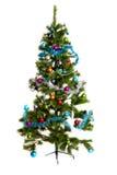Ano novo feliz isolado das decorações da Natal-árvore Imagens de Stock