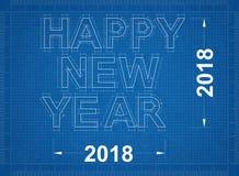 Ano novo feliz 2018 - modelo Fotografia de Stock