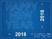 Ano novo feliz 2018 - modelo Imagens de Stock Royalty Free