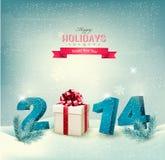 Ano novo feliz 2014! Molde do projeto do ano novo Fotos de Stock