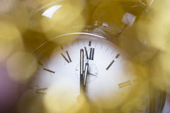 Ano novo feliz, mostrador de relógio Fotografia de Stock Royalty Free