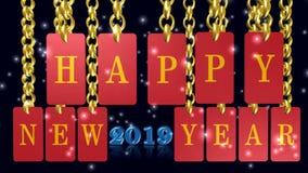 Ano novo feliz, Feliz Natal, ícone, sinal, a melhor ilustração 3D video estoque