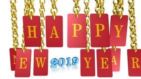 Ano novo feliz, Feliz Natal, ícone, sinal, a melhor ilustração 3D vídeos de arquivo