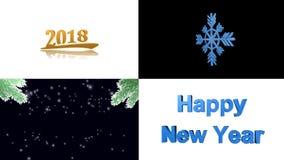 Ano novo feliz, Feliz Natal, animação video estoque