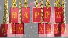 Ano novo feliz, Feliz Natal, animação vídeos de arquivo