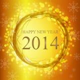 Ano novo feliz no alemão Fotografia de Stock Royalty Free