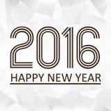 Ano novo feliz 2016 no teste padrão eps10 do papaper do triiangle Fotografia de Stock Royalty Free